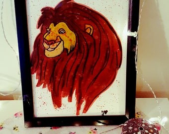 Einzigartiges Lion King Aquarell :)
