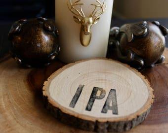 IPA Wooden Coaster