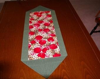 Christmas leopard Print Table Runner