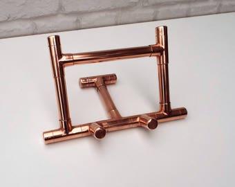 Tablet Stand Universal Holder Desktop Mount Copper Pipe Design Ipad Mobile