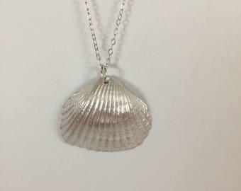 Shell, Pendant, Silver Clay, Fine Silver