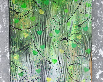 Silver Birch - Original Painting. Spray Paints And Acrylic On Canvas