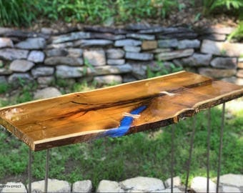 Osage Live Edge Console Table Resin