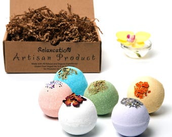 Handmade Fully Natural Bath Bombs Gift Set