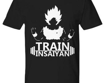 Train Insayin Premium Tee Goku Crossfit Wortkout
