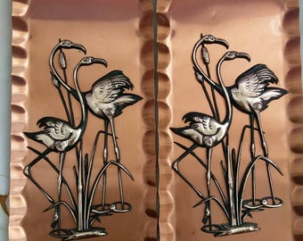 Copper wall animal,copper wall heron