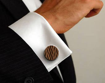Le Gibloux wooden cuff links