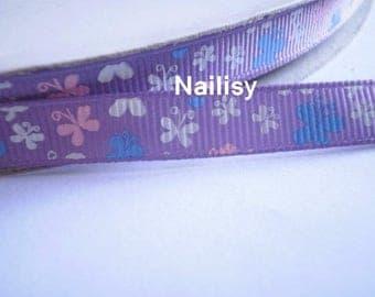 1 meter of 3 Butterfly pattern Ribbon
