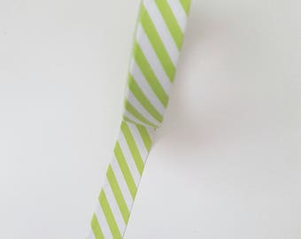 Green Stripped Washi Tape
