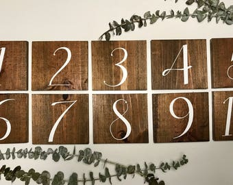 Wooden Table Number | Rustic Table Number | Wooden Wedding Decor