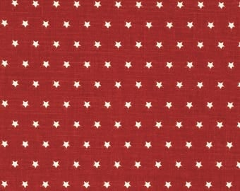 Red and White Star Print - Eastern Accents Fabric