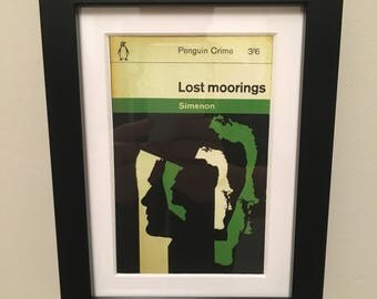 Classic Penguin Book cover print- framed - Lost Moorings