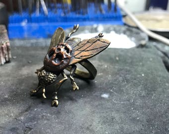 Copper fly ring