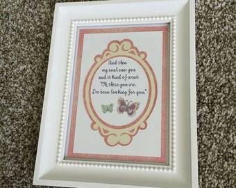 My Soul Saw You - Handmade paper craft Adoption home decor