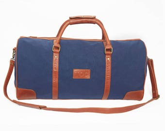 TOC Globetrotter Canvas Holdall - Navy
