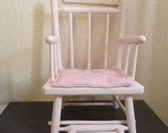 Antique wooden doll Chair