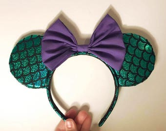 The Little Mermaid Ariel, Mickey and Minnie Mouse, Classic Disney Character Ears Headband