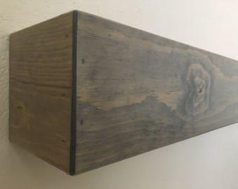 "Weathered Oak fireplace mantel, mantel shelf, floating mantel, floating shelf, fireplace mantle, beam shelf,48""Longx5.5""Deepx5.5""High"