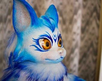 Fantasy Snow Cat - Posable doll