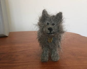 Needle felted Cairn Terrier