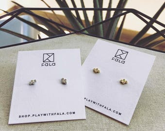 Studs earring post earrings CZ studs Cubic Zirconia earrings Everyday Earrings Minimalist earrings Dainty studs Gift for Her Simple Earring