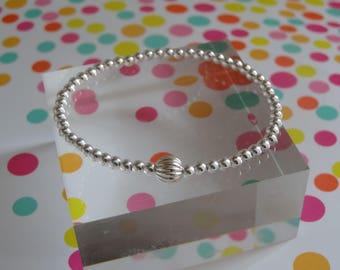contemporary sterling silver stacking bracelet