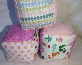 Soft rattle blocks