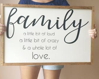 Family wood sign, family definition sign, wood sign, family room decor, wall art for family room, wall art, family definition, wooden sign