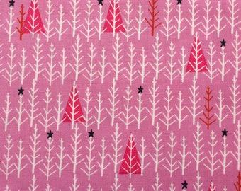 scrub hat pixie style - pink Christmas trees