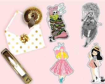 Sugar Skull Girl Die Cut, Rebel Girl Die Cut, Pink Beautiful Girl Planner Die Cuts, Scrapbook Accessory, Paper Decor Party Decoration