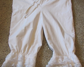 Upcycled Bloomers, pantalettes, drawers, stage costume, cosplay, knickers. historical, wagon train, trek, pioneer, (med)