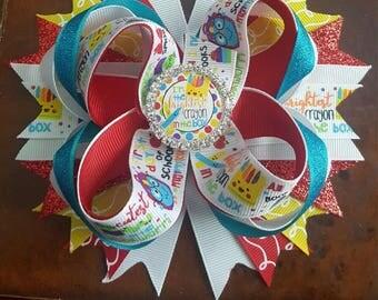 School bows, school hair bows, school bow, school hair bow
