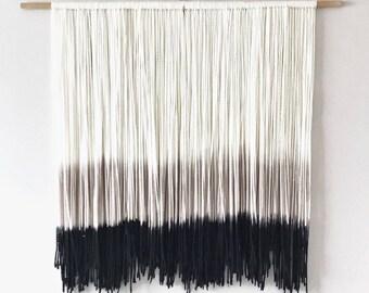 Dip Dye Wall hanging | Fiber Art | Bohemian Decor | Medium Tapestry