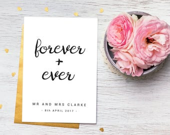 Wedding Print, Forever and Ever
