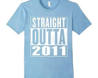 Kids 5th Birthday Gift T-Shirt Straight Outta 2011 For Kids