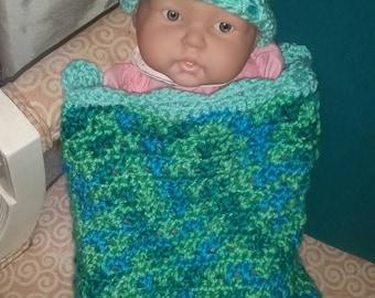 Rainforest Sky Crochet Baby Cocoon