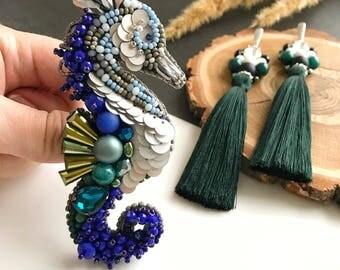 Earrings and brooch