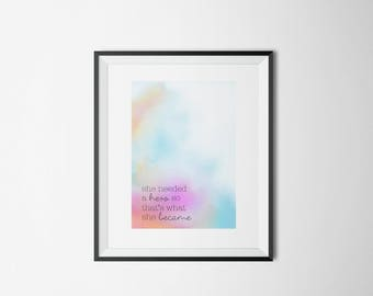 Digital art, colorful quote, printable art, print, wall decor