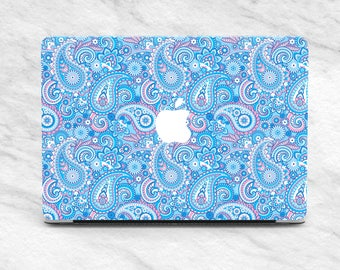 Blue Pattern case MacBook Pro 13 inch Mandala case MacBook 13 inch Pattern cover MacBook 15 2017 case Laptop Sleeve MacBook Pro case Hard