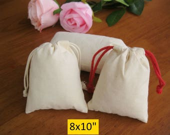 30 8x10 Muslin Bags Large Gift Bags Jewelry Pouches Wedding Favor Bags Cotton Bags
