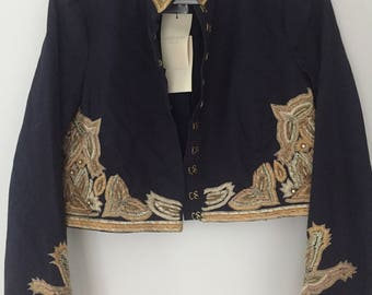 Rare Gryphon New York Jacket, designer jacket, military style, matador style, rare jacket, Gryphon New York, jacket, matador jacket, matador