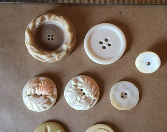 Vintage Buttons - Assorted - lot #6
