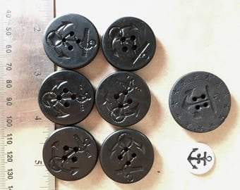 Vintage Anchor Buttons - Assorted - lot #9