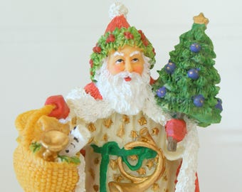 Welsh Father Christmas Wales 1998 Santa Porcelain Figurine International Resourcing Services, Inc.
