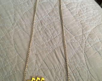 Betsey Johnson enameled necklace