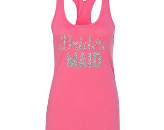 GLITTER Bridal Party Tank Tops, Bride Tank Top, Bridesmaid Tank Top, Maid of Honor Tank Top, Bachelorette Party, JCN
