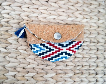 Cork wallet - coin purse ethnic