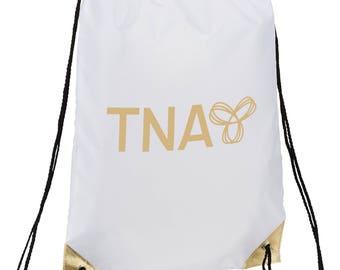 Custom Metallic Accent Drawstring Bag
