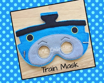Thomas the Train Inspired Mask-Dress Up/Imaginary Play-Halloween Costume Mask-Birthday Party Favor-Pretend Play-Photo Prop-Theme Party
