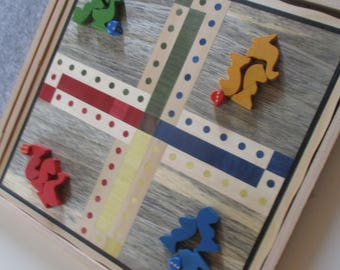 small marquetry horses games